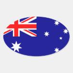 Australia Pegatinas Ovaladas