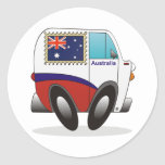 Australia Pegatinas Redondas