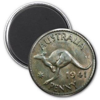 Australia Penny 1941 2 Inch Round Magnet