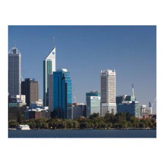 Australia, Perth, city skyline from Swan River Postcard