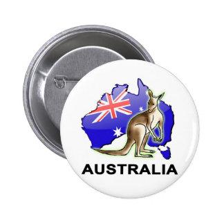 Australia Pin Redondo De 2 Pulgadas