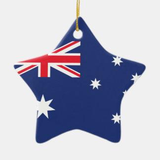 Australia Plain Flag Ceramic Ornament