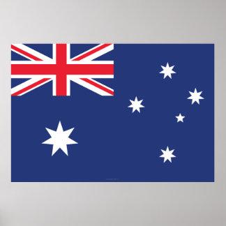 Australia Plain Flag Poster