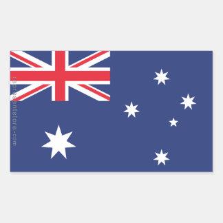 Australia Plain Flag Rectangular Sticker