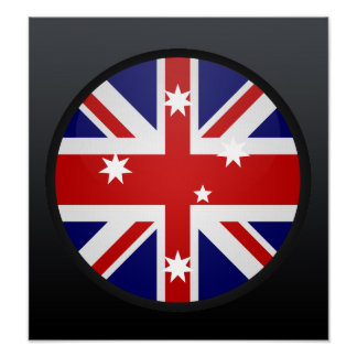 Australia quality Flag Circle Poster
