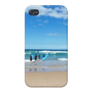 Australia que practica surf iPhone 4 carcasas