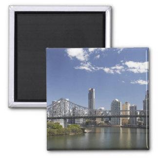 Australia, Queensland, Brisbane, puente de la hist Imán Cuadrado