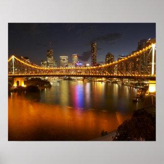 Australia, Queensland, Brisbane, puente de la hist Póster