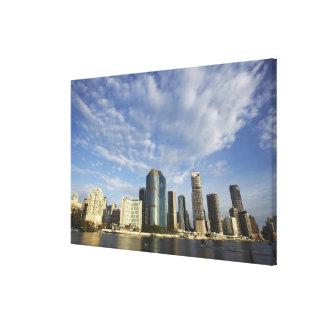 Australia, Queensland, Brisbane, rascacielos y Lona Envuelta Para Galerías