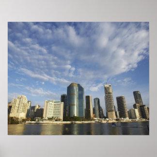 Australia, Queensland, Brisbane, rascacielos y Póster
