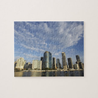 Australia, Queensland, Brisbane, Skyscrapers and Jigsaw Puzzle