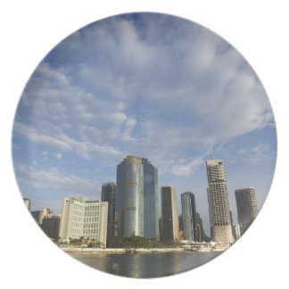 Australia, Queensland, Brisbane, Skyscrapers and Dinner Plate