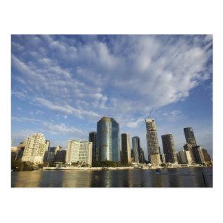 Australia, Queensland, Brisbane, Skyscrapers and Postcard