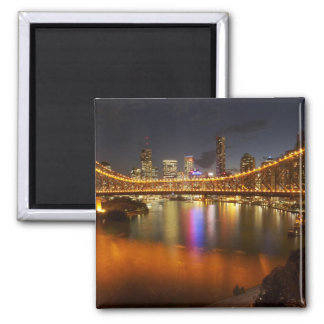Australia, Queensland, Brisbane, Story Bridge, 2 2 Inch Square Magnet