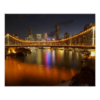 Australia, Queensland, Brisbane, Story Bridge, 2 Poster