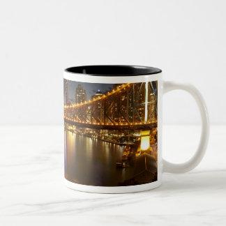 Australia, Queensland, Brisbane, Story Bridge, 2 Two-Tone Coffee Mug