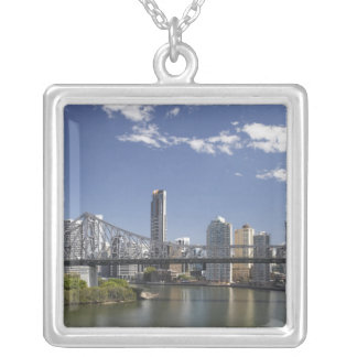 Australia, Queensland, Brisbane, Story Bridge, Silver Plated Necklace