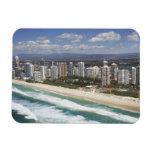 Australia, Queensland, Gold Coast, Main Beach - Rectangle Magnet