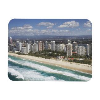 Australia, Queensland, Gold Coast, Main Beach - Rectangular Photo Magnet