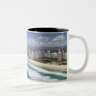 Australia, Queensland, Gold Coast, Main Beach - Two-Tone Coffee Mug