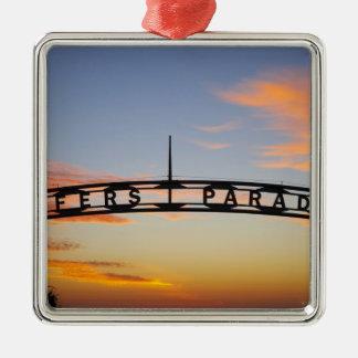 Australia, Queensland, Gold Coast, Sunrise, Metal Ornament