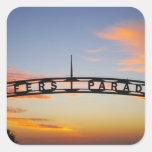 Australia, Queensland, Gold Coast, Sunrise, Square Sticker