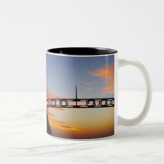 Australia, Queensland, Gold Coast, Sunrise, Two-Tone Coffee Mug