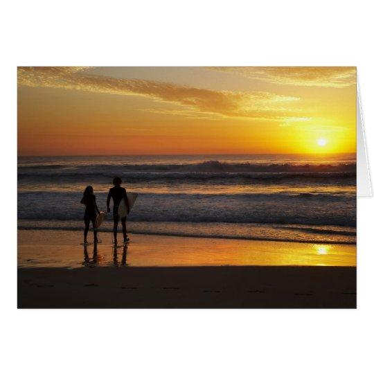 Australia, Queensland, Gold Coast, Surfers at Card
