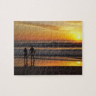 Australia, Queensland, Gold Coast, Surfers at Jigsaw Puzzle