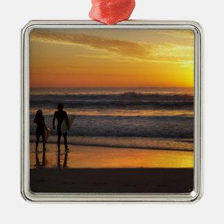 Australia, Queensland, Gold Coast, Surfers at Metal Ornament
