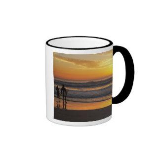 Australia, Queensland, Gold Coast, Surfers at Ringer Coffee Mug