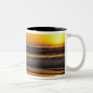Australia, Queensland, Gold Coast, Surfers at Two-Tone Coffee Mug