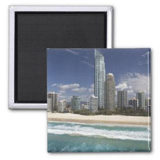Australia, Queensland, Gold Coast, Surfers 2 Inch Square Magnet