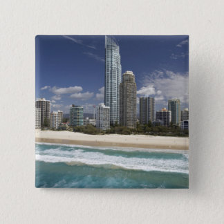 Australia, Queensland, Gold Coast, Surfers Pinback Button