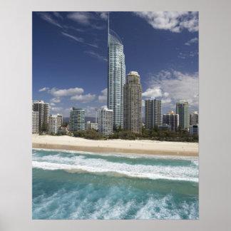 Australia, Queensland, Gold Coast, Surfers Poster