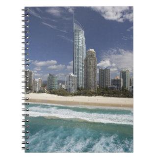 Australia, Queensland, Gold Coast, Surfers Spiral Notebook