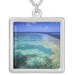 Australia - Queensland - Great Barrier Reef. 4 Square Pendant Necklace