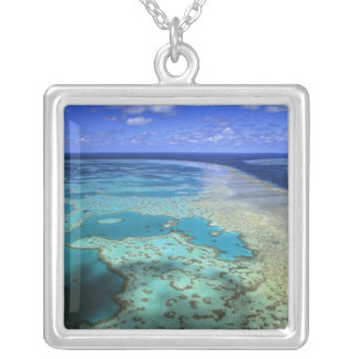 Australia - Queensland - Great Barrier Reef. 4 Square Pendant Necklace