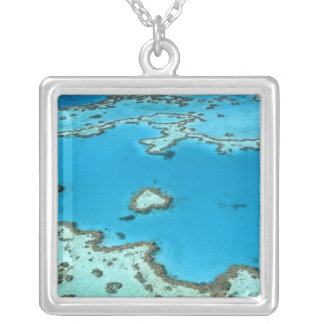 Australia - Queensland - Great Barrier Reef. 5 Square Pendant Necklace