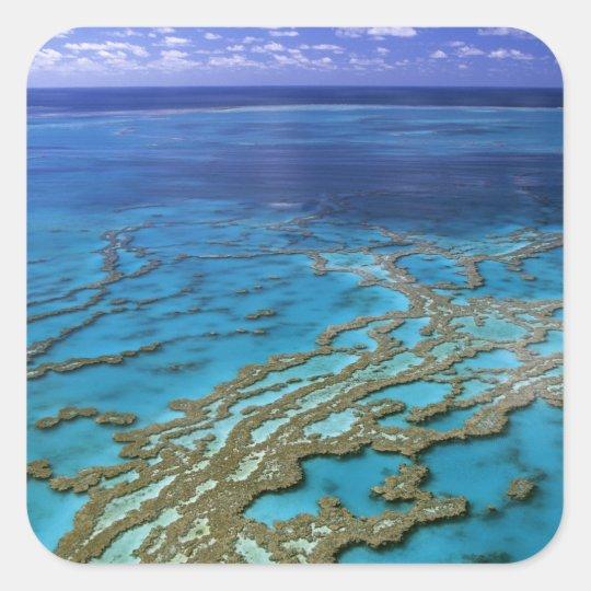 Australia - Queensland - Great Barrier Reef. 6 Square Sticker
