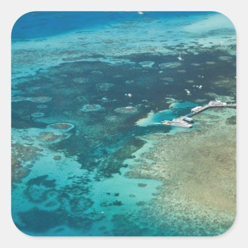 Australia, Queensland, North Coast, Cairns Square Sticker