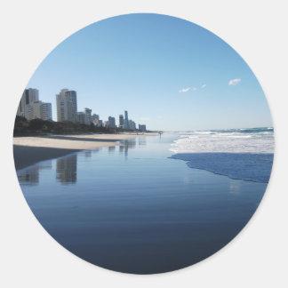 Australia Queensland Sunshine Coast Classic Round Sticker