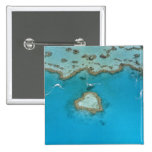 Australia, Queensland, The Whitsunday Islands, 2 Inch Square Button