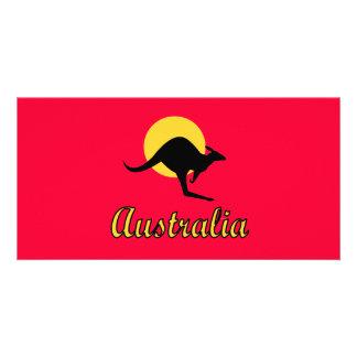 Australia Red earth Design Card