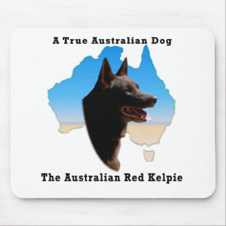 Australia Red Kelpie with map Mouse Mats