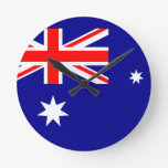 Australia Reloj Redondo Mediano
