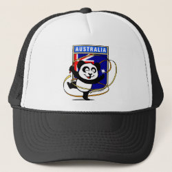 Trucker Hat with Australia Rhythmic Gymnastics Panda design