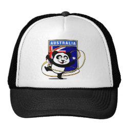 Trucker Hat with Australia Rhythmic Gymnastics Panda design