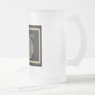 Australia Rig Up Camo Frosted Glass Beer Mug