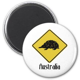 Australia Road Sign - Echidna Fridge Magnet